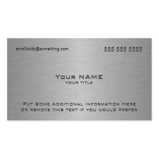 Moderner metallischer Beschaffenheits-Druck Visitenkarte