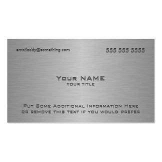 Moderner metallischer Beschaffenheits-Druck Visitenkartenvorlage
