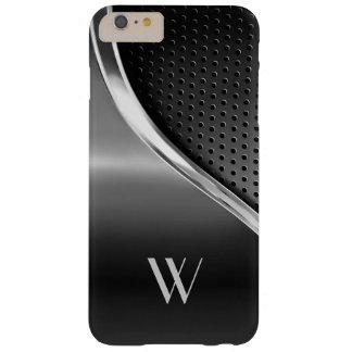 Moderner metallischer Blick mit Monogramm Barely There iPhone 6 Plus Hülle