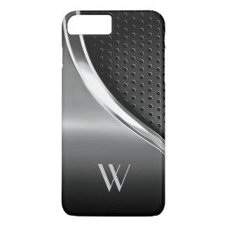 Moderner metallischer Blick mit Monogramm iPhone 7 Plus Hülle