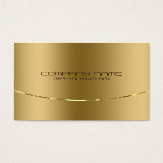 Moderner metallischer Goldentwurfs-Edelstahl-Blick Visitenkarte