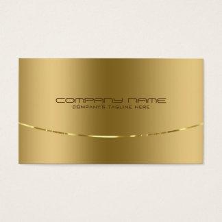 Moderner metallischer Goldentwurfs-Edelstahl-Blick Visitenkarten