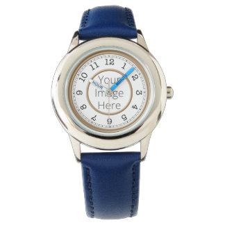 Moderner Minimalist kundenspezifisches Foto-Browns Uhr