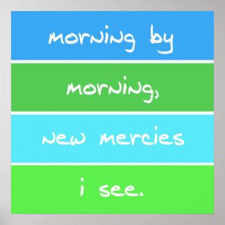 Moderner Morgen durch Morgen-christliche Poster