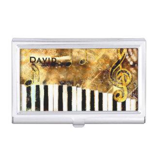 Moderner musikalischer themenorientierter visitenkarten dose