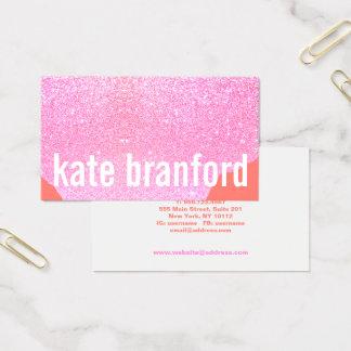 Moderner mutiger abstrakter rosa visitenkarte