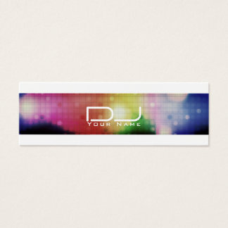 Moderner Nachtclub-Artblick DJ Mini Visitenkarte