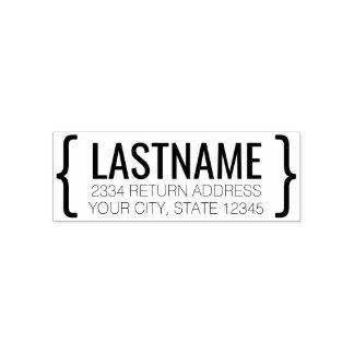 Moderner Name und Rücksendeadresse mit Klammern Permastempel