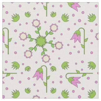 Moderner niedlicher Entwurf mit Tulpen, Gras und Stoff