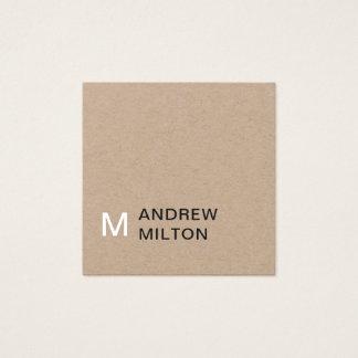 Moderner Packpapier-graues Weiß-Monogramm-Berater Quadratische Visitenkarte