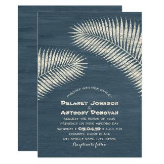 Moderner Palme-tropischer Strand-themenorientierte 12,7 X 17,8 Cm Einladungskarte