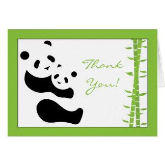 Moderner Panda u. Bambus danken Ihnen zu kardieren Karte