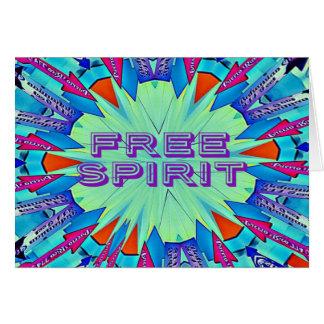 Moderner Pop färbt die Pfeile, die freien Geist Karte