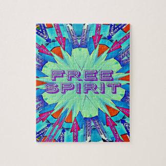 Moderner Pop färbt die Pfeile, die freien Geist Puzzle