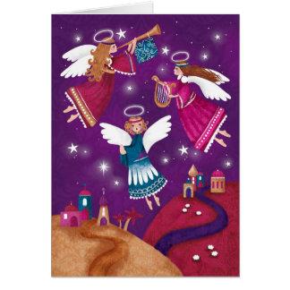 Moderner religiöser Chritmas, drei Engel Karte