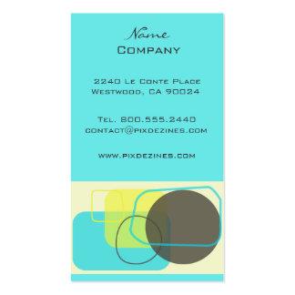 Moderner Retro geometrischer Entwurf Visitenkarten