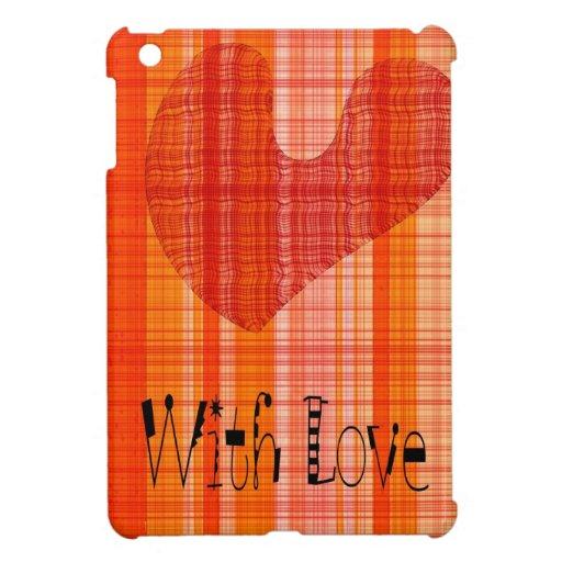 Moderner romantischer Entwurf mit einem Entwurfste iPad Mini Etui