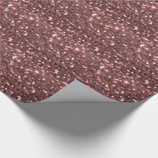 Moderner Rosen-GoldImitat-Glitter-Druck Geschenkpapier