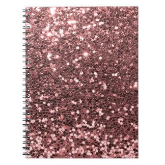 Moderner Rosen-GoldImitat-Glitter-Druck Notizblock