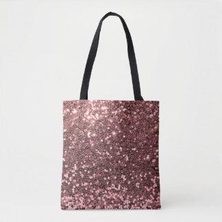 Moderner Rosen-GoldImitat-Glitter-Rosa-Druck Tasche