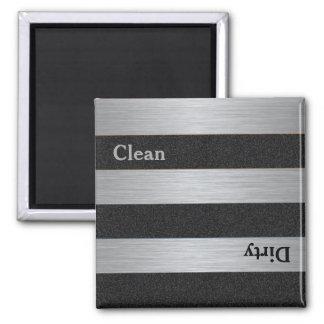 Moderner sauberer schmutziger Spülmaschinen-Magnet Quadratischer Magnet