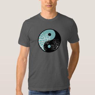Moderner schicker Yin-Yang Sunbeam-Blumenbaum T-Shirts