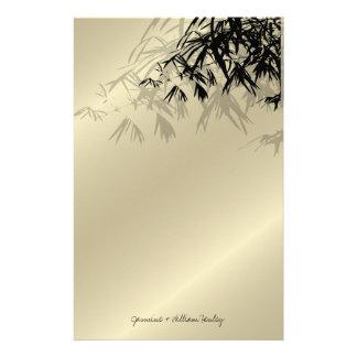 Moderner schwarzer Bambus-Zen-asiatisches Briefpapier
