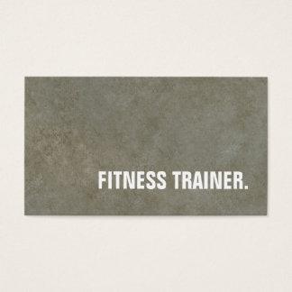 Moderner Steinwand-grauer Fitness-Trainer Visitenkarte