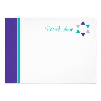 Moderner Stern-Schläger Mitzvah danken Ihnen zu Karte