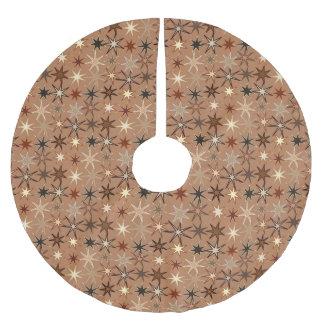 Moderner Sternexplosion-Druck, Kaffee Brown und Polyester Weihnachtsbaumdecke