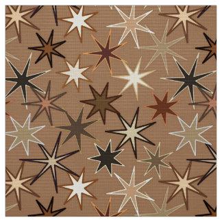Moderner Sternexplosion-Druck, Kaffee Brown und Stoff