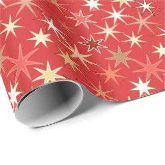 Moderner Sternexplosion-Druck, tiefe Mandarine Geschenkpapier