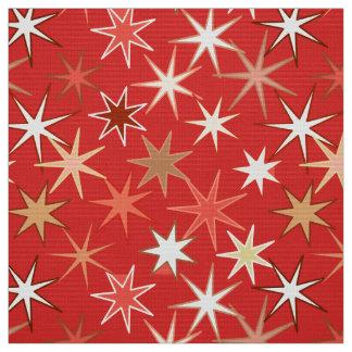 Moderner Sternexplosion-Druck, tiefe Mandarine Stoff