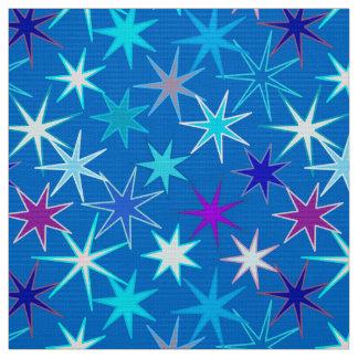 Moderner Sternexplosion-Druck, tiefes Cerulean Stoff