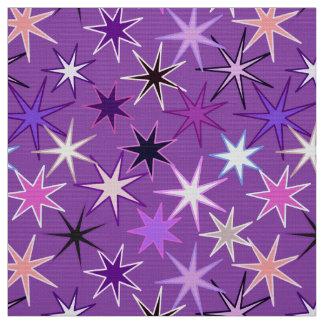 Moderner Sternexplosion-Druck, violettes Lila und Stoff
