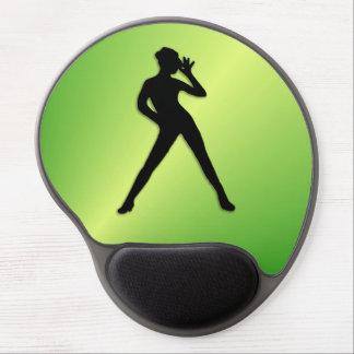 Moderner Tanz-Grün Gel Mousepad