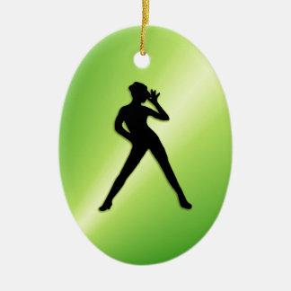 Moderner Tanz-Grün Keramik Ornament