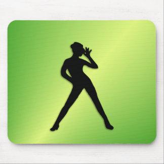 Moderner Tanz-Grün Mousepad