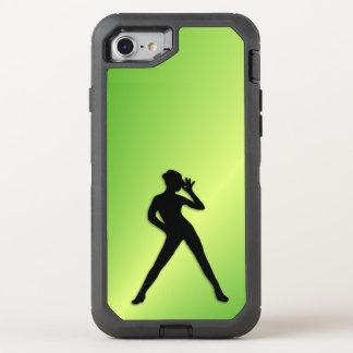 Moderner Tanz-Grün OtterBox Defender iPhone 8/7 Hülle