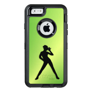 Moderner Tanz-Grün OtterBox iPhone 6/6s Hülle