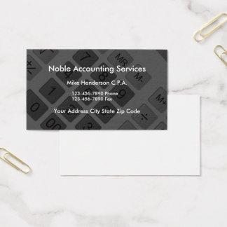 Moderner Taschenrechner CPA-Buchhalter Visitenkarten
