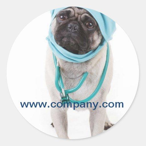 Moderner Tierhaustierservice-Tierarzt Runde Aufkleber
