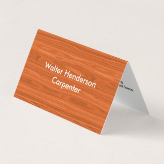 Moderner Tischler-Auftragnehmer Visitenkarten