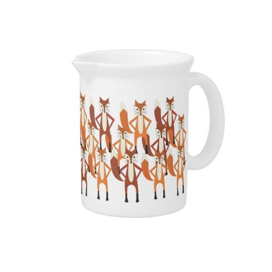 Moderner Trendy niedlicher Fox-Muster-Krug Getränke Pitcher