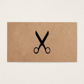 Moderner unbedeutender Packpapier-schwarzes Visitenkarte