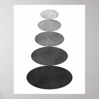 Moderner unbedeutender Zenkiesel-Kunstdruck Poster