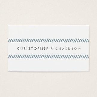 Moderner und minimaler Schiefer Stripes II Visitenkarte