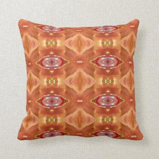 Moderner vibrierender Pfirsich-orange Kissen