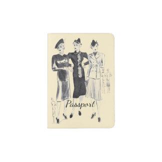 Moderner Vintager Bildpaßhalter Passhülle