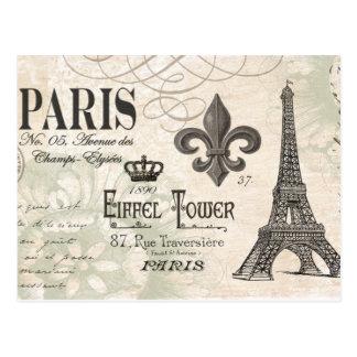 moderner Vintager Franzosen Eiffel-Turm Postkarten